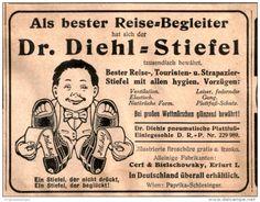 Original-Werbung/ Anzeige 1911 - DR. DIEHL STIEFEL / CERF & BIELSCHOWSKY - ERFURT  - ca. 90 x 70 mm