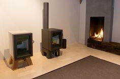 Tromp en van Eck showroom zolder Bellfires Vertical Bell Wanders Oak Steel & Oak Concrete