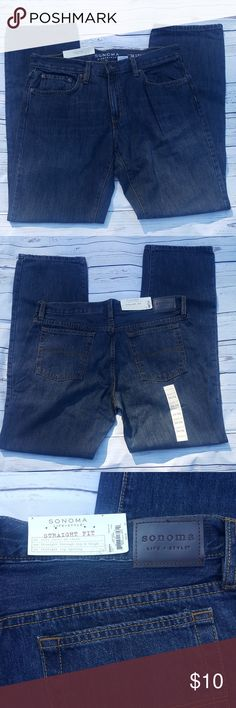 NWT Sonoma dark blue jeans NWT Sonoma dark blue jeans from a smoke & pet-free home.  Size 34x34  B1 Sonoma Jeans Straight