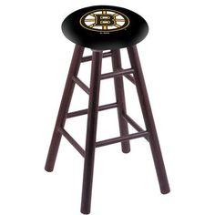 "Holland Bar Stool NHL 24"" Bar Stool with Cushion Finish: Dark Cherry, NHL Team: Boston Bruins"