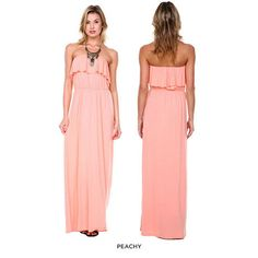 Sienna Strapless Summer Maxi-Dress - Assorted Colors at 77% Savings off Retail!