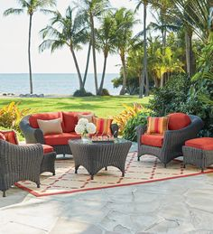 Really make a statement in your own backyard with a lovely outdoor seating set. Our Martha Stewart Living™ Lake Adela Six-Piece Seating Set comes in beautiful finish and fabric options that you can choose from. Shop at Home Decorators Collection.