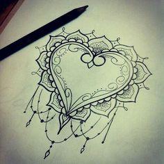 Image via We Heart It #draw #hearttattoo #ink #inked #tattoo #Tattoos #tatouages #inkedup #tatouage #madameinked