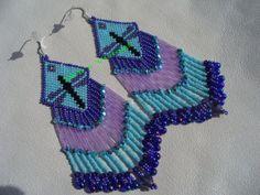Brick stitch beaded Dragonfly earrings on Wanelo