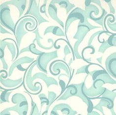 Aqua and Cream Swirled Design from the Hunky Dory line by Chez Moi for moda - 1 yard. $7.00, via Etsy.