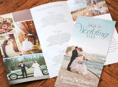 Brochure designed for Kathy Rogers to highlight her wedding photography packages.