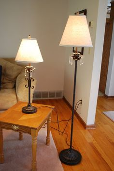 matching floor and table lamps in oakhillcircle 39 s garage sale in prior. Black Bedroom Furniture Sets. Home Design Ideas