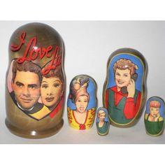 I love Lucy Russian Nesting Dolls