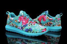 Nike Roshe Run 2 Flores de encargo Verde Manzana - Zapatillas para Mujer