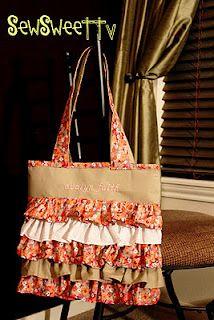 Sweet ruffle tote bag tutorial