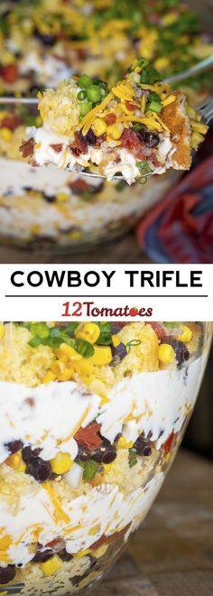 Cowboy Trifle the perfect party side dish! The post Cowboy Trifle the perfect party side dish! appeared first on Tasty Recipes. Good Food, Yummy Food, Tasty, Trifle Recipe, Trifle Dish, Recipe Recipe, Summer Salads, Side Dish Recipes, Food Dishes