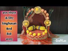 Art N Craft, Craft Stick Crafts, Craft Work, Fun Crafts, Diy And Crafts, Crafts For Kids, Indian Wedding Gifts, Janmashtami Decoration, Thali Decoration Ideas