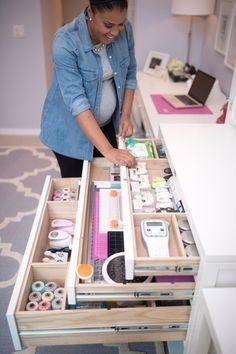how to organize printers silhouette craft room - Pesquisa Google