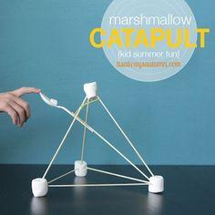 It's Always Autumn easy marshmallow catapults