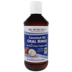 Dr. Mercola, Premium Dental Care, Coconut Oil Oral Rinse, 8.12 fl oz (240 ml)