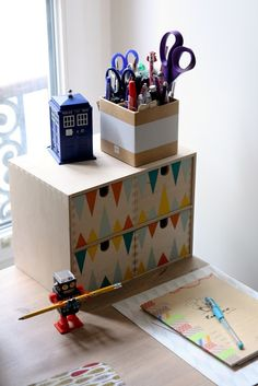 Ikea Moppe mit bunten geometrischen Mustern