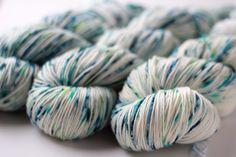 Painter's Palette Sock Yarn 004 - Serene Fiber Arts Hand-Dyed OOAK Yarn for knitting, weaving, crochet