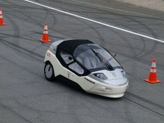 TW4XP 3-wheeler powered by pedal and battery. German designers have come up with car to compete for the Progressive Automotive X-Prize.