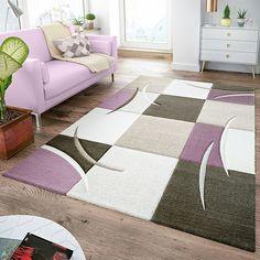 T/&T Design Tapis Cr/éateur Salon Poils Ras D/écorations Florales Gris Dor/é Jaune Dimension:80x150 cm