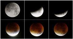Imagens do eclipse total da super lua - Galerias - DN 2015