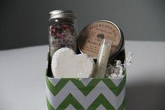 Gift Spa In a Box Bath Salts/Bath Bomb/Lip Balm/Cuticle treatmeant/Gift For Her/Mom/ Friend