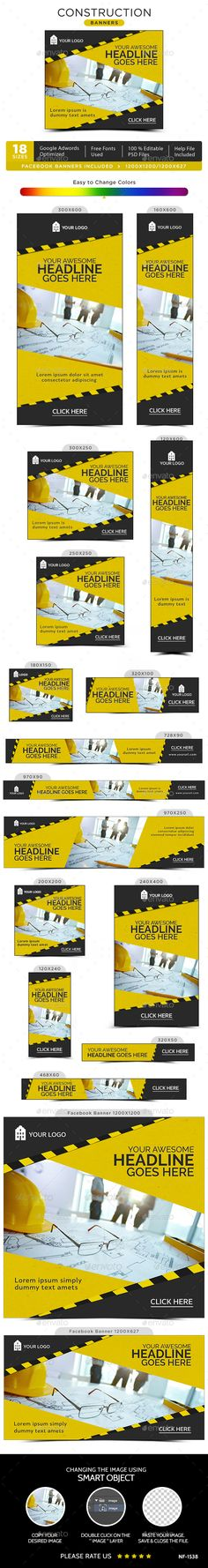 Construction Banners - Banners & Ads Web Elements Download here : https://graphicriver.net/item/construction-banners/17892881?s_rank=190&ref=Al-fatih