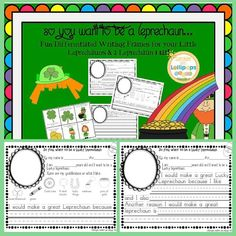 #dollardeal #Stpatricksday So You Want to be a Leprechaun Differentiated Writing frames to Show Your Qualifications!  Fun writing frames for your little leprechauns. Plus a Leprechaun Hat!  A differentiated writing activity 3 Different frames for differen