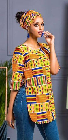 african print shalla top big girl fashion afrikanisch mode jurken - The world's most private search engine African Fashion Ankara, African Fashion Designers, African Inspired Fashion, African Print Dresses, African Print Fashion, Africa Fashion, Fashion Prints, African Style, African Prints