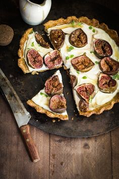 Labneh Fig and Thyme Tart with Pistachio Almond Crust