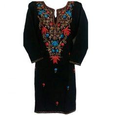Wollen kurti wid kashmiri embroidery work