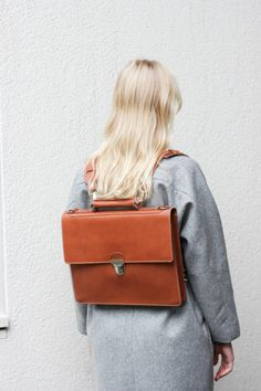 Amazing leather backpack
