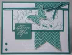 thank you Bermuda Bay Stampin Up card by stampwithkriss.