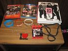 One Direction 1D Lot Where We Are Book This is Us DVD Blu-Ray Necklace Bracelets
