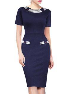 Appealing&chic Patchwork Bodycon-dress | fashionmia.com