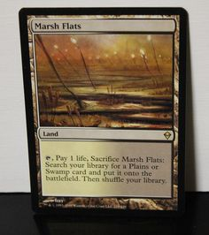 Marsh Flats Magic The Gathering MTG Trading Card #WizardsoftheCoast Collectible Cards, Wizards Of The Coast, Magic The Gathering, Mtg, Trading Cards, Flats, Life, Loafers & Slip Ons, Collector Cards