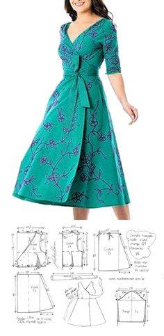 Fashion Sewing, Diy Fashion, Ideias Fashion, Fashion Dresses, Dress Sewing Patterns, Clothing Patterns, Sewing Clothes, Diy Clothes, How To Make Clothes