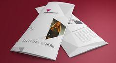 Photorealistic Tri-fold Brochure Mock-up by arash manoochehri, via Behance