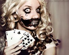 Alice in Wonderland zombie face
