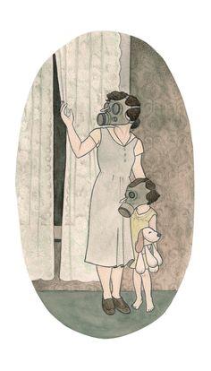 The Mad Gasser Of Mattoon Illustration Print 8x10 by idrawdogs, $20.00