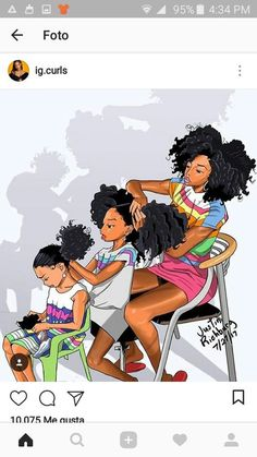 Ideas Black Art Family African AmericansYou can find Afro art and more on our Ideas Black Art Family African Americans Black Love Art, Black Girl Art, Black Girl Magic, Art Girl, Black Art Painting, Black Artwork, Hair Painting, Natural Hair Art, Natural Hair Styles