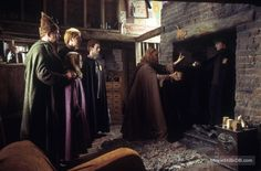 Harry Potter and the Chamber of Secrets - Publicity still of Daniel Radcliffe, Bonnie Wright, Julie Walters & Mark Williams