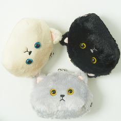 Lovers of cats are sure to enjoy this adorable Myu the Cat coin pouch! The next time you reach for some extra cash, why not be greeted by an adorable cat? Super soft and super adorable, this chubby cheeked cat wants to go along with you to the store! It features 3D ears, twinkling eyes, and an expression sure to melt a cat lover's heart.