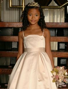 Little African American Girls Wedding Hairstyles For Long Hair