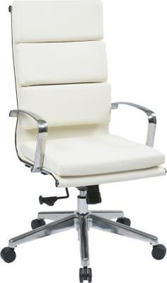 StaplesR Has The Office Star OSP Designs Leather High Back Executive Chair You Need Modern ChairsModern