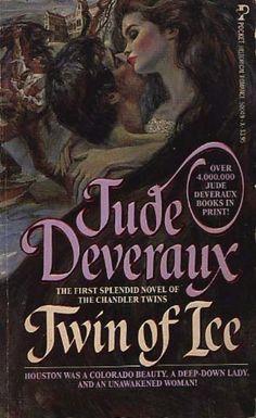 Twin of Ice - Jude Deveraux original cover art by Harry Bennett