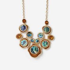 Abalone Cluster Bib Necklace by ISHARYA Jewelry
