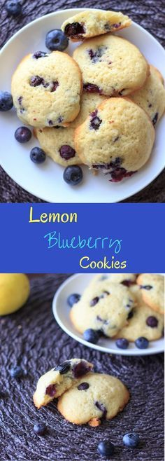 Lemon blueberry cookies - fresh blueberries and a light lemon flavor in a cookie that tastes like a muffin top!