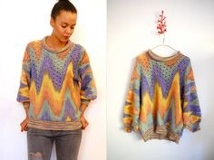 Vtg 70's Tie Dye CUT OUT Perforated Knitted Sweater  http://www.etsy.com/shop/LuluTresors