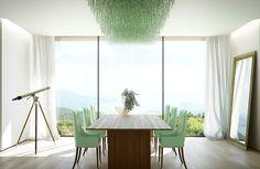 Farbiges Interior Design - Grün in der Hauptrolle - modern und frisch  - #Farben
