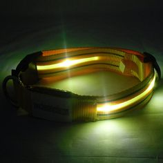 rechargeable glowing dog collar